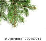 mockup christmas tree branches... | Shutterstock . vector #770467768