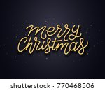 merry christmas wishes... | Shutterstock .eps vector #770468506