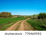 country road by the sea ... | Shutterstock . vector #770469592