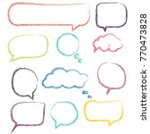 color speech bubbles | Shutterstock .eps vector #770473828