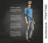 vector man model | Shutterstock .eps vector #770477482