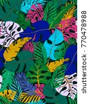 tropical seamless pattern with... | Shutterstock .eps vector #770478988