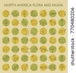 flat north america flora and... | Shutterstock .eps vector #770480206