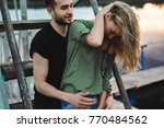 loving young couple hugging ... | Shutterstock . vector #770484562