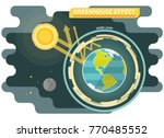 greenhouse effect diagram ... | Shutterstock .eps vector #770485552