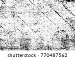 grunge black and white pattern. ... | Shutterstock . vector #770487562