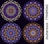 mandala set   vector  floral... | Shutterstock .eps vector #770489062