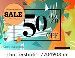 sale advertisement banner with... | Shutterstock .eps vector #770490355
