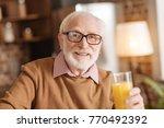 tasty juice. the portrait of a... | Shutterstock . vector #770492392