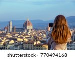 girl making a photo shoot of... | Shutterstock . vector #770494168