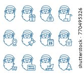 set of christmas icons with... | Shutterstock .eps vector #770495326