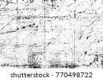 grunge black and white pattern. ... | Shutterstock . vector #770498722