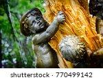 hogarth fountain sculpture... | Shutterstock . vector #770499142