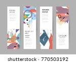 vector vertical banner design | Shutterstock .eps vector #770503192