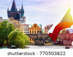 prague is the capital of the... | Shutterstock . vector #770503822