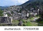 abandoned  old greek houses of ... | Shutterstock . vector #770504938