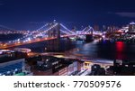 night time view of brooklyn... | Shutterstock . vector #770509576