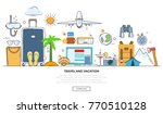 a set of elements for travel... | Shutterstock .eps vector #770510128