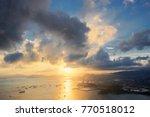port sunset sky beside the...   Shutterstock . vector #770518012