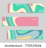 abstract banner template with... | Shutterstock .eps vector #770519656