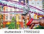 reindeer themed rollercoaster... | Shutterstock . vector #770521612