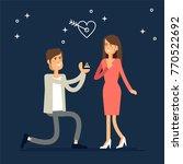 an offer of marriage. man... | Shutterstock .eps vector #770522692