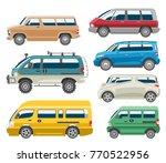 van car vector auto vehicle... | Shutterstock .eps vector #770522956
