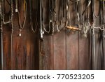 Set Of Leather Horse Bridles...