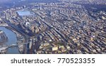 Aerial view of the Bronx in New York City, with Fordham and Knightsbridge plus the Harlem River.
