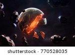 planet explosion. apocalypse in ...   Shutterstock . vector #770528035