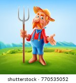farmer illustration for... | Shutterstock .eps vector #770535052