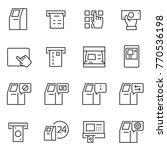atm terminal icon set....   Shutterstock .eps vector #770536198