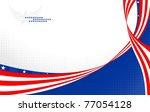 american patriotic banner | Shutterstock .eps vector #77054128