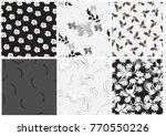 vector seamless pattern flowers ...   Shutterstock .eps vector #770550226