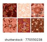 vector seamless pattern flowers ... | Shutterstock .eps vector #770550238