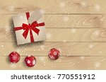 top view on christmas present... | Shutterstock .eps vector #770551912