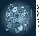 mechanical vector pattern of... | Shutterstock .eps vector #770552476