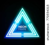 blue neon light triangle.... | Shutterstock .eps vector #770554315
