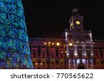 christmas tree in sol square ... | Shutterstock . vector #770565622