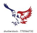 american patriotic eagle... | Shutterstock .eps vector #770566732