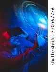 technological concept men using ... | Shutterstock . vector #770567776