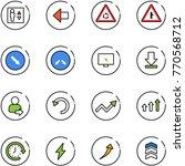 line vector icon set   elevator ... | Shutterstock .eps vector #770568712