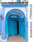 traditional moroccan courtyard... | Shutterstock . vector #770569126