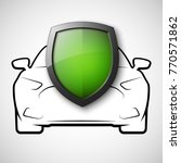 protect car guard shield.... | Shutterstock .eps vector #770571862