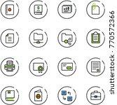 line vector icon set   passport ... | Shutterstock .eps vector #770572366