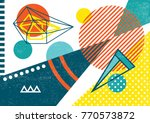 creative geometric colorful... | Shutterstock .eps vector #770573872