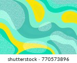 creative geometric colorful... | Shutterstock .eps vector #770573896
