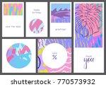 set of creative universal...   Shutterstock .eps vector #770573932