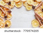 sliced dry orange | Shutterstock . vector #770574205