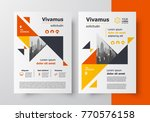 brochure design template flyer... | Shutterstock .eps vector #770576158